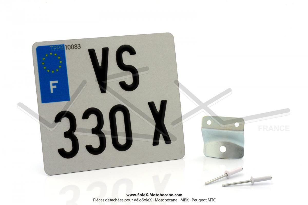 plaques rivets supports immatriculation solex motobecane. Black Bedroom Furniture Sets. Home Design Ideas