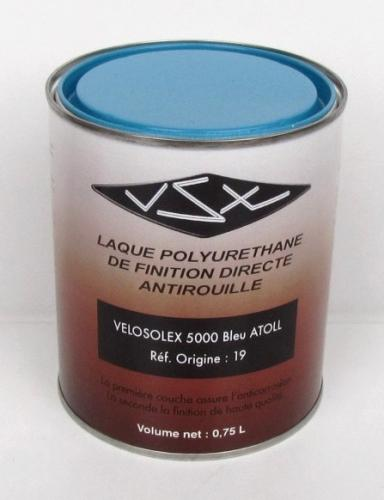 peinture bleu atoll r pour solex 5000 pot 1 litre pi ces d tach es pour solex flash. Black Bedroom Furniture Sets. Home Design Ideas