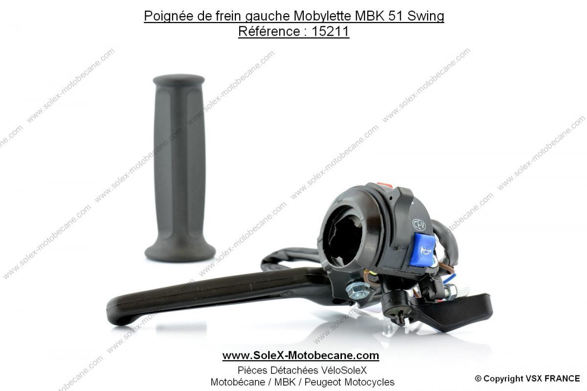 poign e de frein gauche mobylette mbk 51 swing poste de pilotage poign e de frein gauche. Black Bedroom Furniture Sets. Home Design Ideas