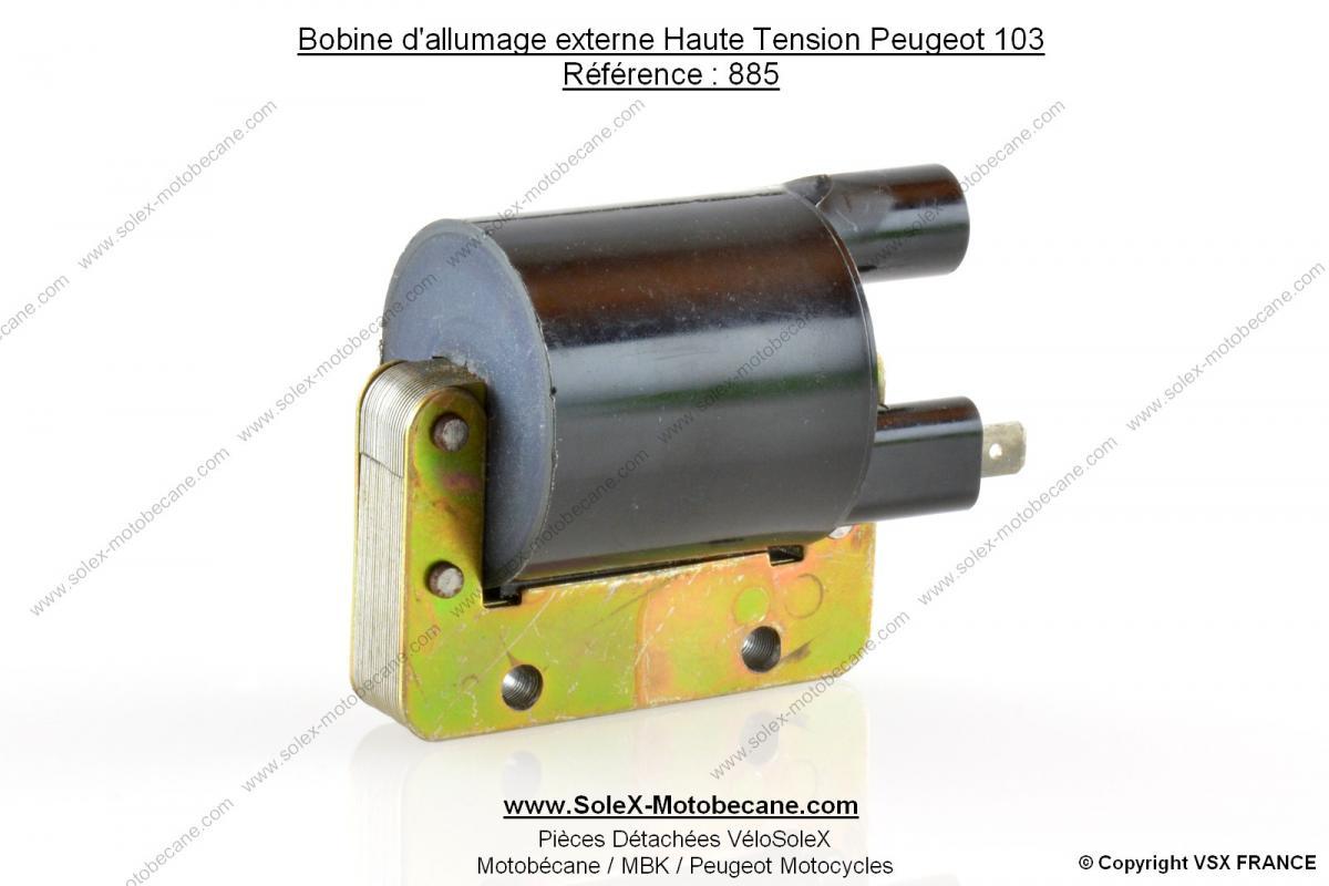 bobine d 39 allumage externe haute tension allumage rupteur pour peugeot 103 bobines d. Black Bedroom Furniture Sets. Home Design Ideas
