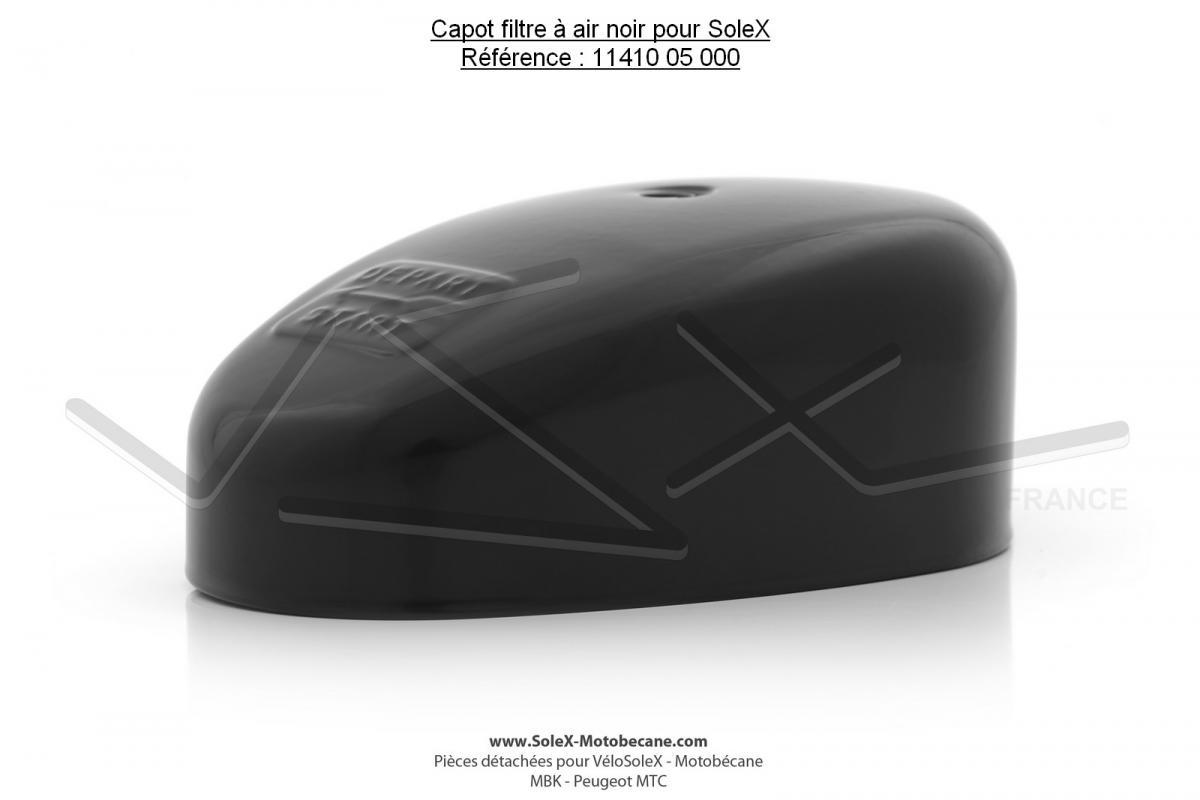 capot filtre air noir pour solex pi ces d tach es pour solex micron pi ces pour velosolex. Black Bedroom Furniture Sets. Home Design Ideas