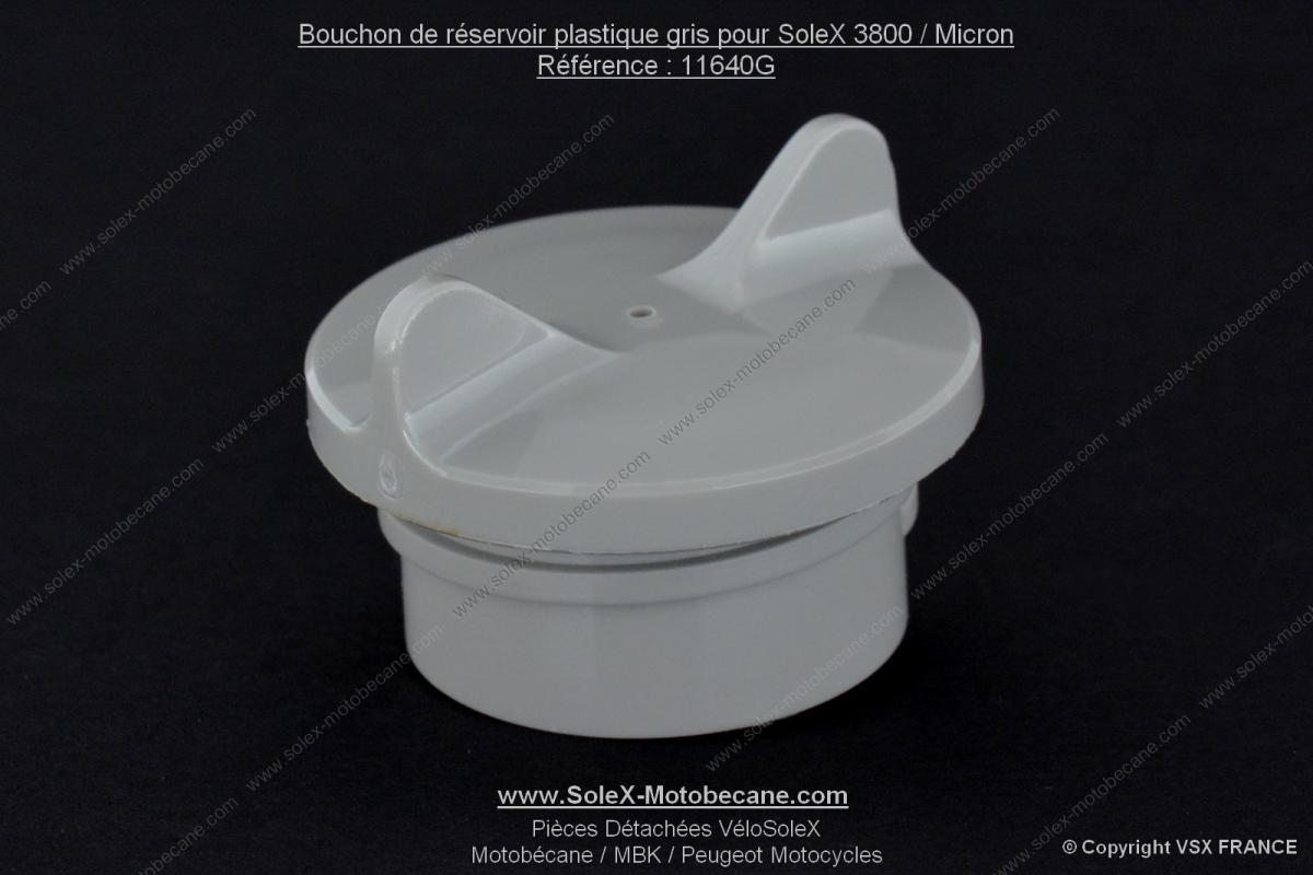 bouchon de r servoir plastique gris pour solex 3800 micron albaplast pi ces d tach es pour. Black Bedroom Furniture Sets. Home Design Ideas