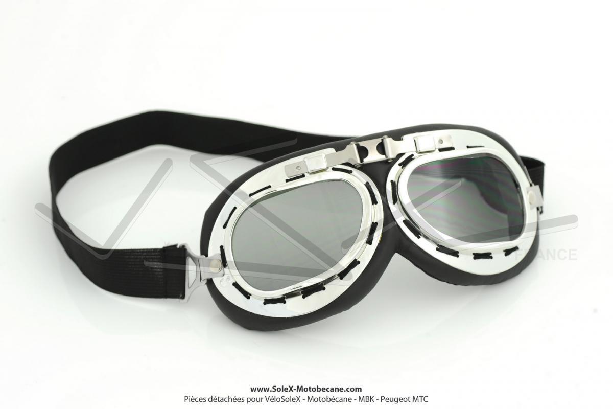 Lunettes de protection moto style aviateur verres teint s l g pi ces d tach es pour v losolex - Verre lunette raye assurance ...