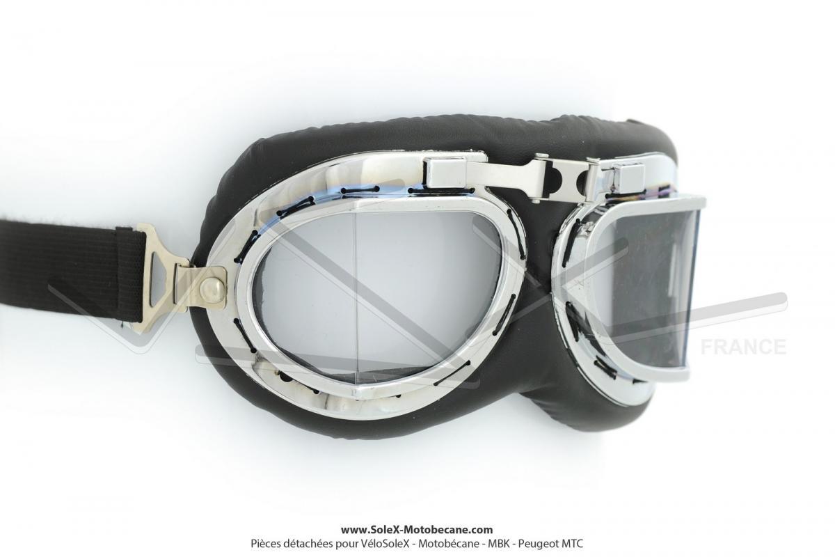 Lunettes de protection Moto style Aviateur verres à facettes transparents 8d023ee62efc