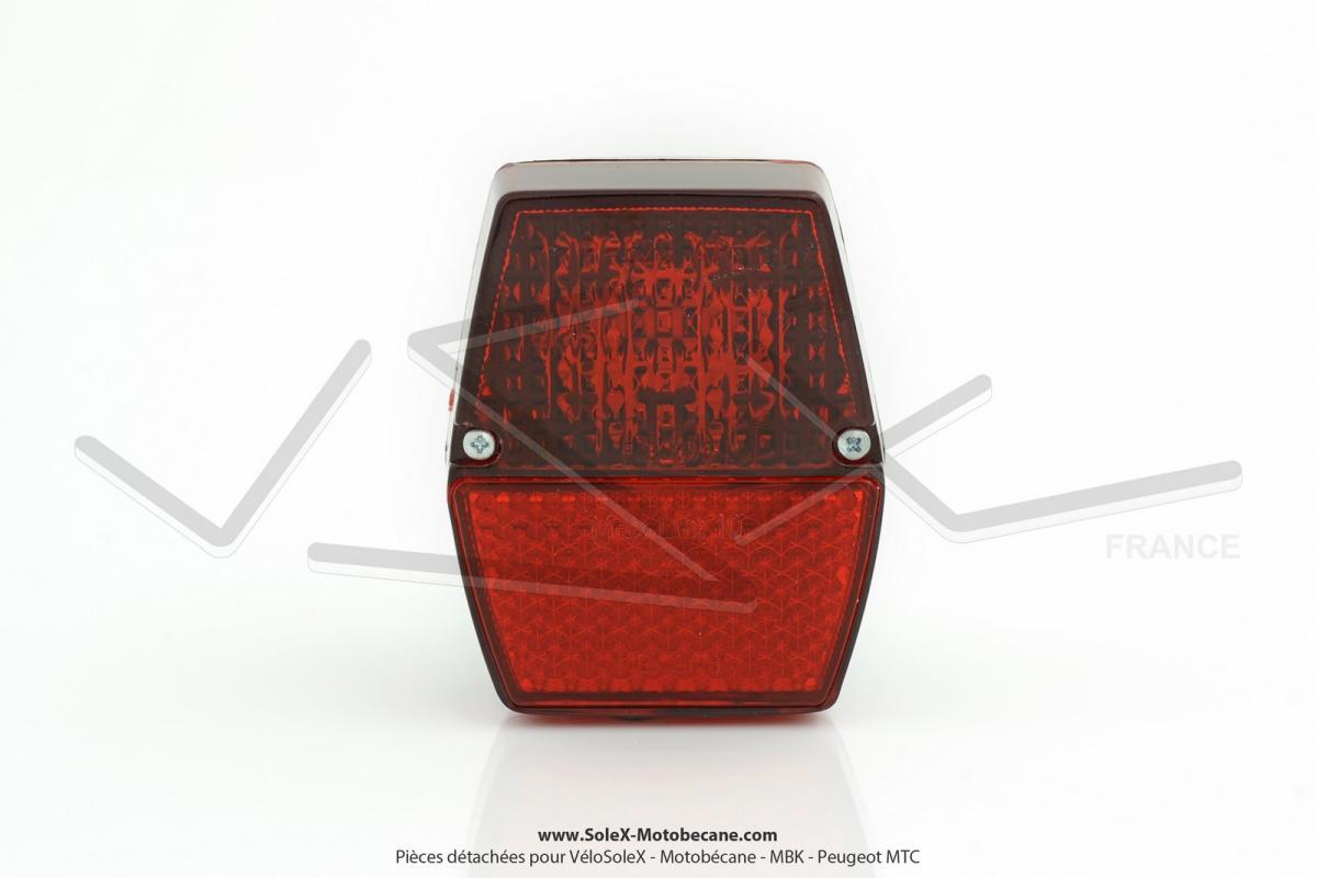 feu rouge arri re hexagonal complet pour mobylette motob cane motoconfort mbk 88 51 solex. Black Bedroom Furniture Sets. Home Design Ideas