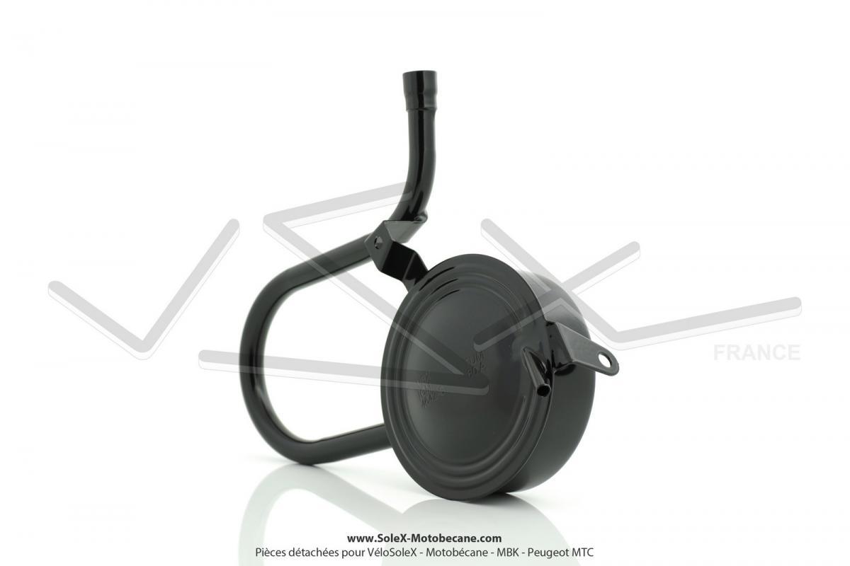 pot d 39 chappement noir brillant pour solex micron pi ces d tach es pour solex micron pi ces. Black Bedroom Furniture Sets. Home Design Ideas