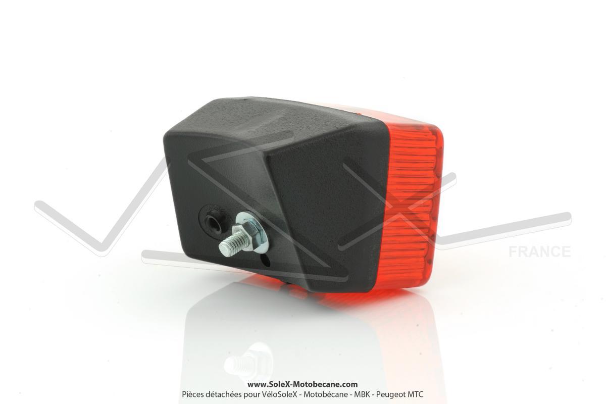 feu rouge arri re type luxor 75 noir rouge pour mobylette motob cane motoconfort mbk peugeot. Black Bedroom Furniture Sets. Home Design Ideas