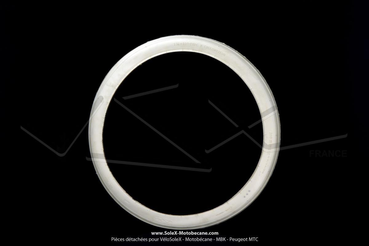 pneu 1 3 4 x 19 type y blanc pur int gral vsx pour solex. Black Bedroom Furniture Sets. Home Design Ideas