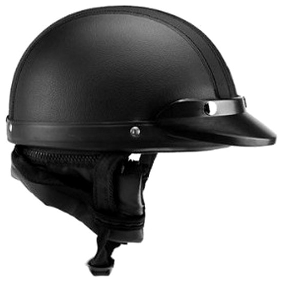 casque bol demi jet simili cuir noir style r tro vintage solex mobylette motob cane peugeot. Black Bedroom Furniture Sets. Home Design Ideas