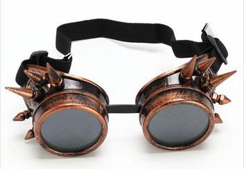 Lunettes de protection Moto à pics couleur Cuivre - Accessoires pour ... a14063908a31