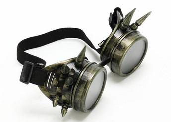 Lunettes de protection Moto à pics couleur Vert ancien - Accessoires ... 24033eaaa4b1