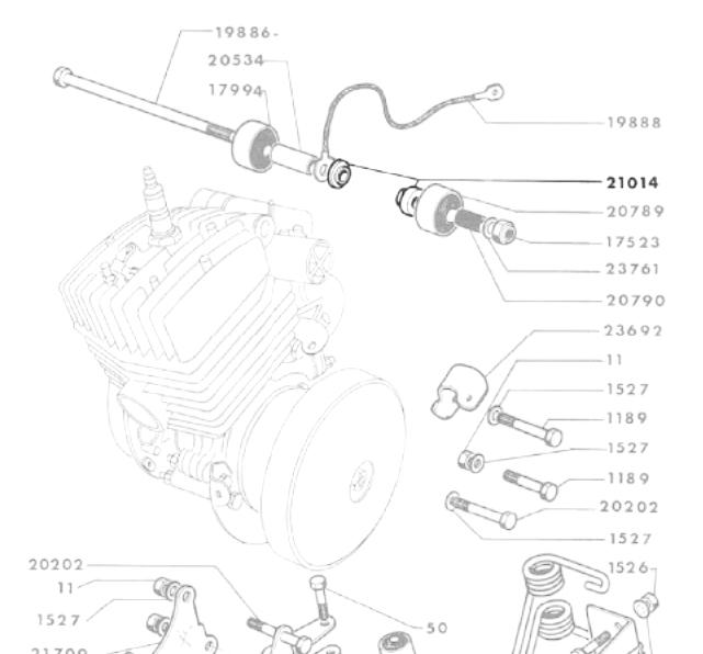 Dirigeants hülsensatz étrier-Boucher 113-1411x