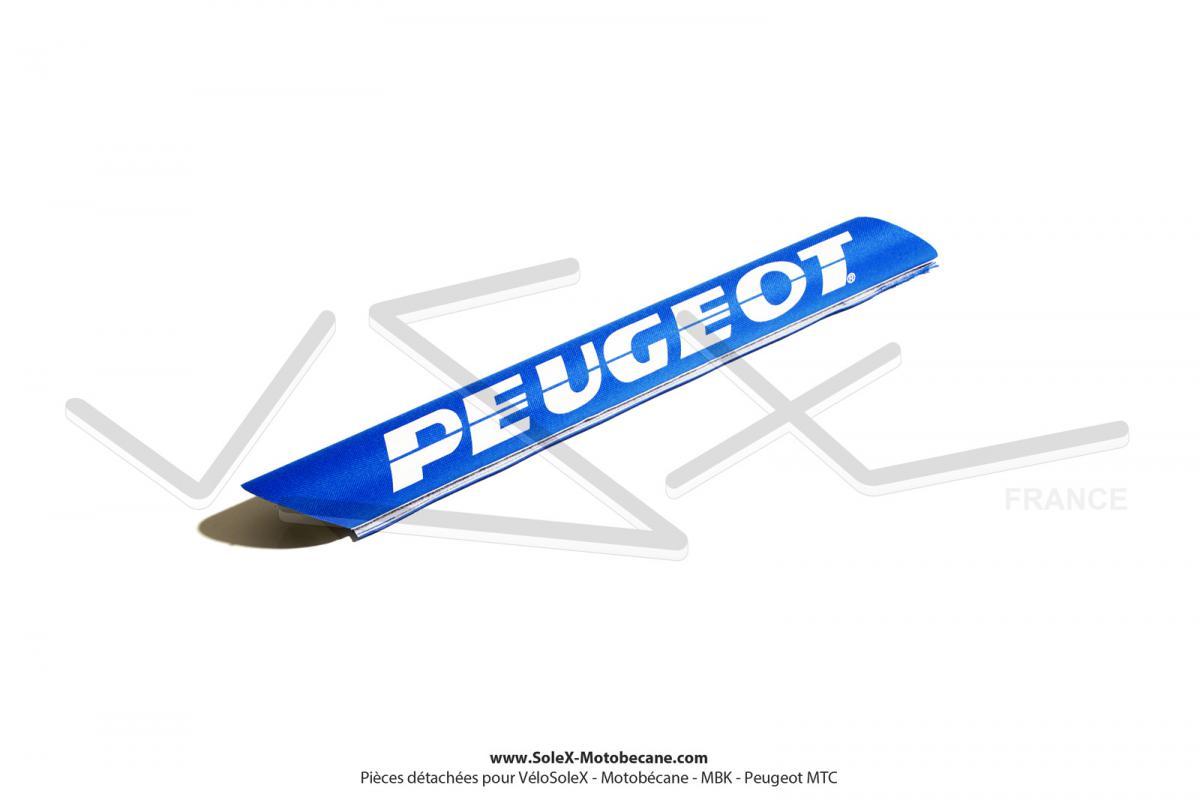 Housse de barre de renfort bleue blanche pour peugeot - Housse de barre a roue ...