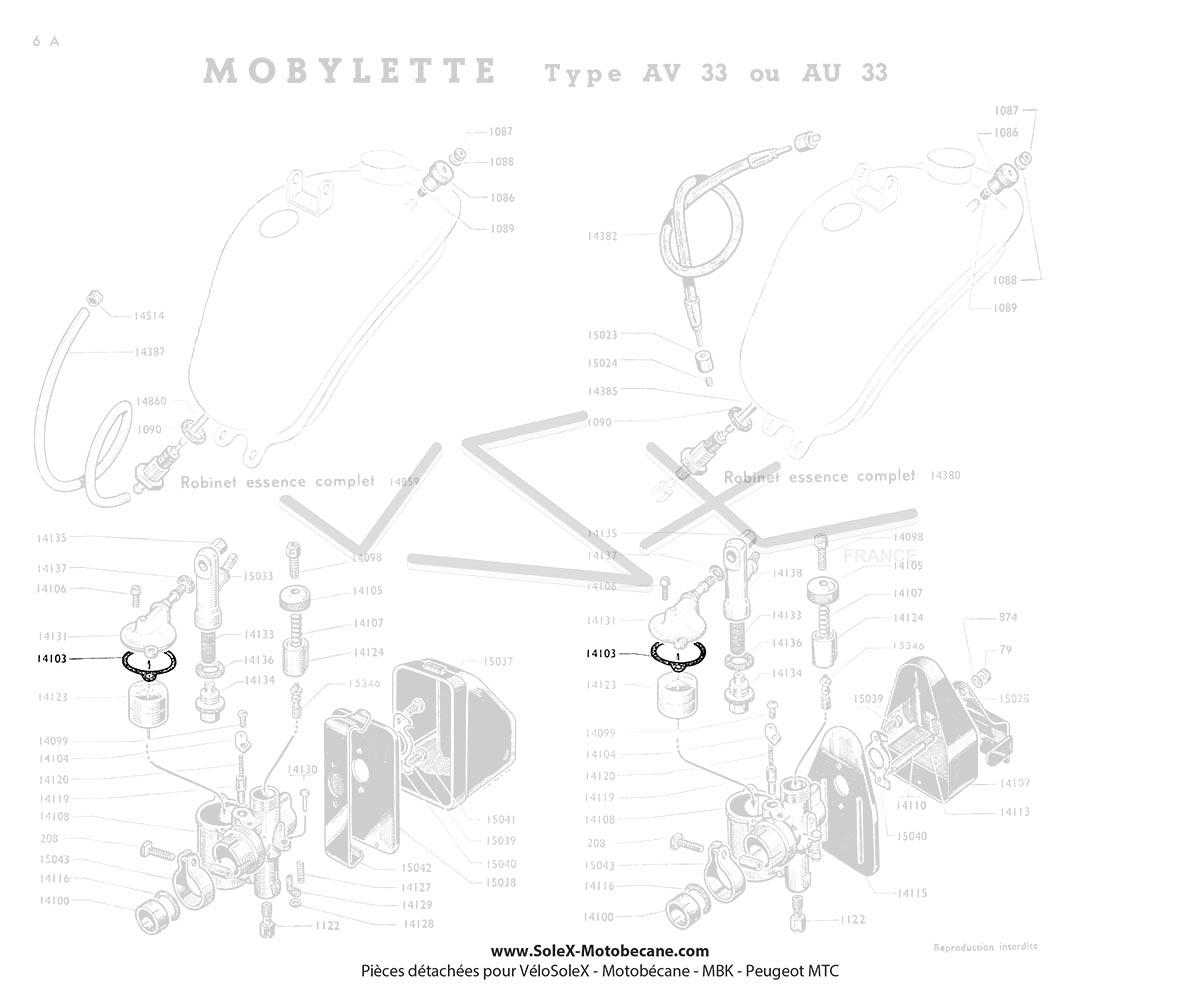 joint de cuve de carburateur gurtner ar1 10 pour mobylette motob cane motoconfort av32s av33. Black Bedroom Furniture Sets. Home Design Ideas