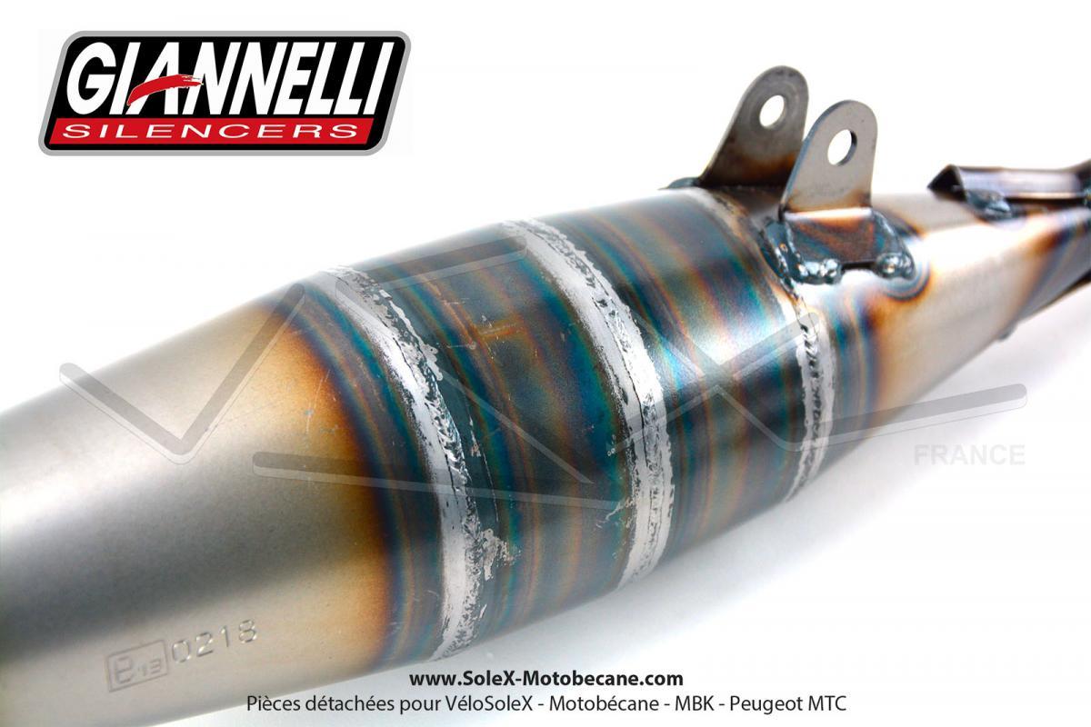 Pot Déchappement Giannelli Sport Cartouche Alu Rotule Pour